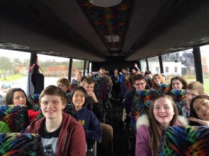 After a long and wonderful retreat at Corrymeela, students bus back to Derry/Londonderry for a final night with their home stays.