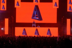 "Flosstradamus repeatedly referred to their fan base, ""Hoodie Nation"", throughout their set"