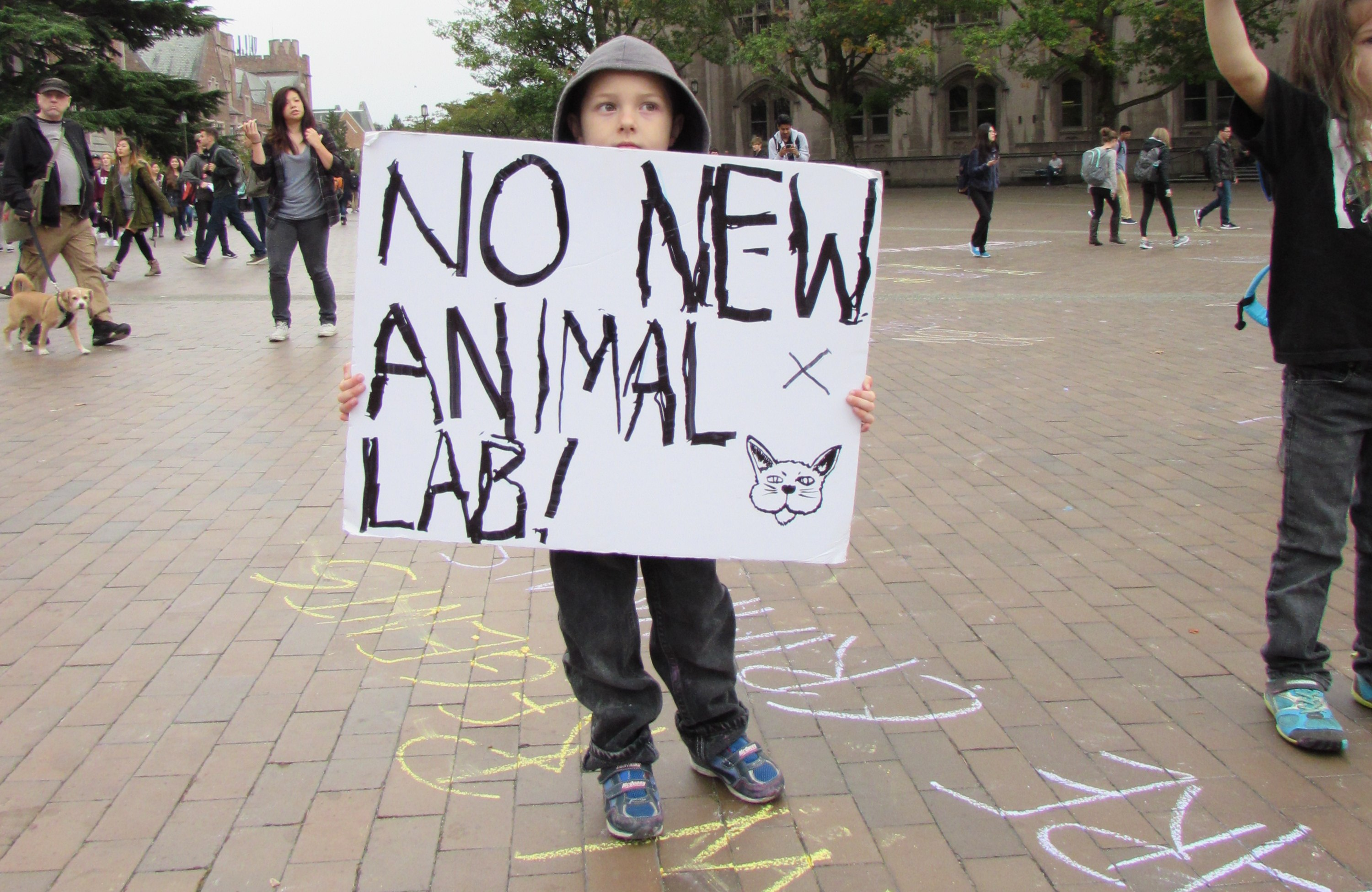 Dawgs Demonstrate Against Animal Testing