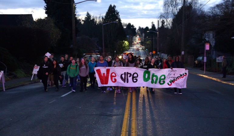 BSU March Brings Loud Voices to Riders