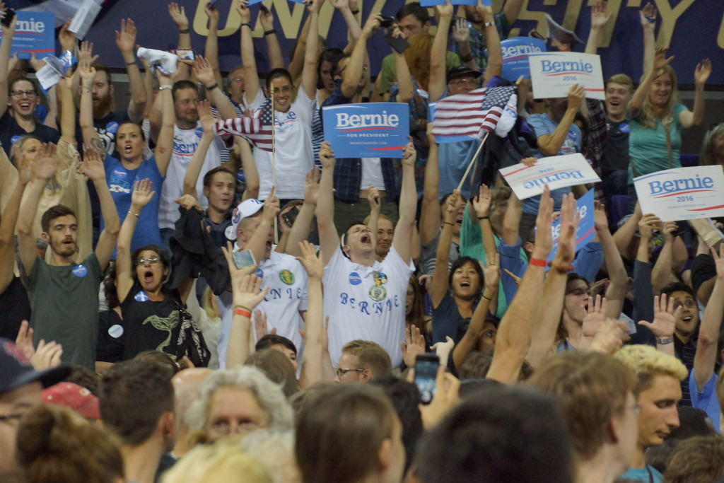 The bellowing Seattle crowds that gathered to see Sanders showed that he certainly